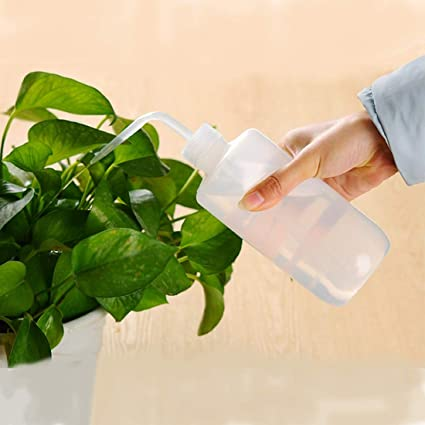 500ML Watering Can Bottle Curved Mouth Squeeze Flower Plant Pot Home Garden Tool