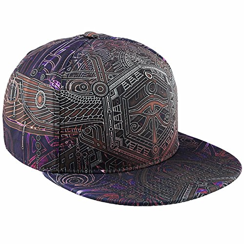 moonsix Unisex Snapback Hats,Adjustable Flat Bill Baseball Caps Dancing Hip Hop Cap,Style H]()