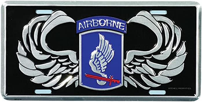Honor Country 173rd Airborne License Plate
