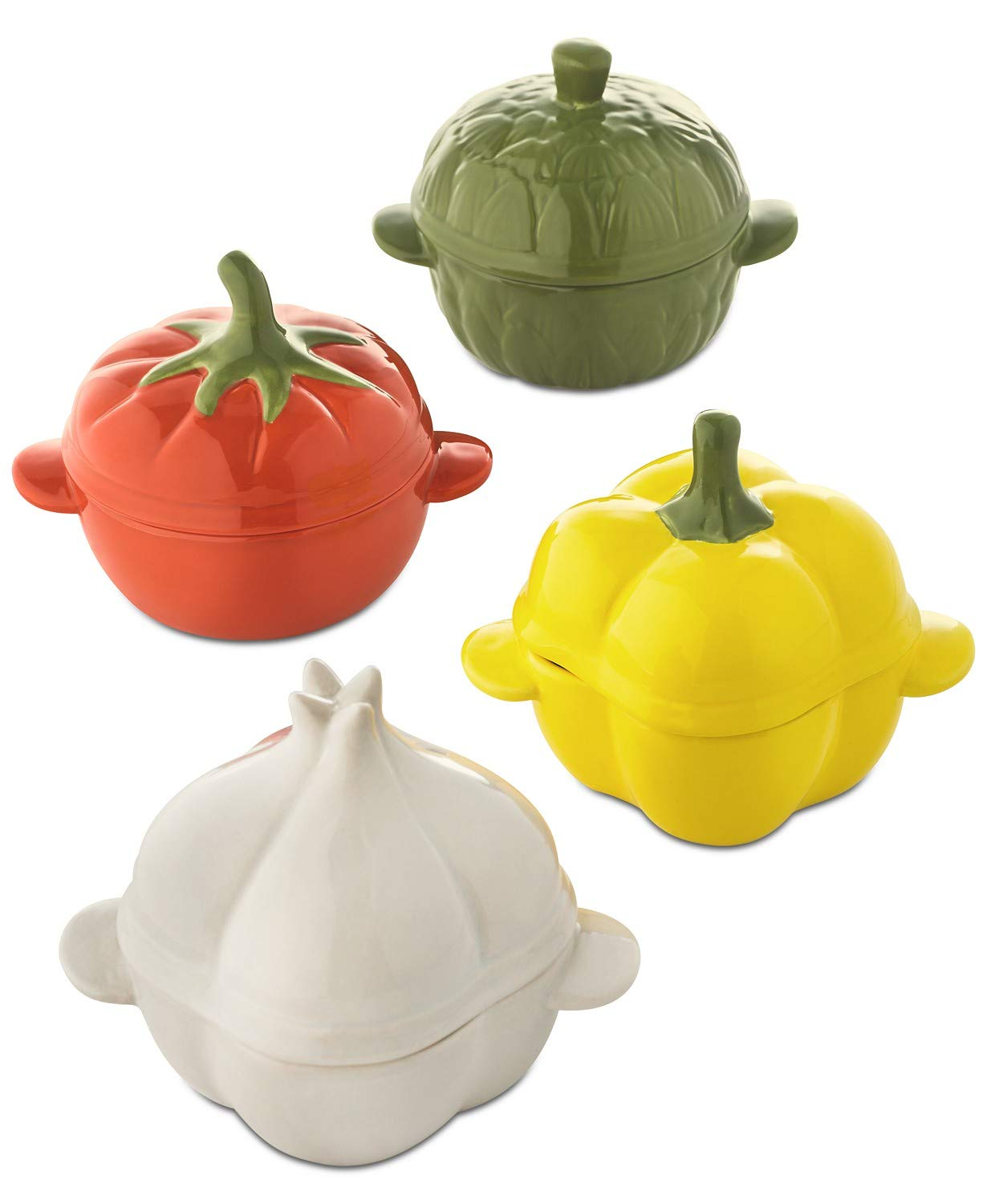 4-Pc. Ceramic Pumpkin Cocotte Set