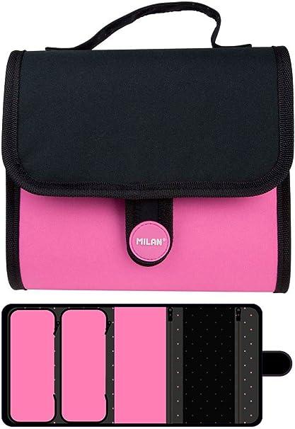 Estuche Milan Fluo Pink Multipencilcase 19 Piezas: Amazon.es: Oficina y papelería