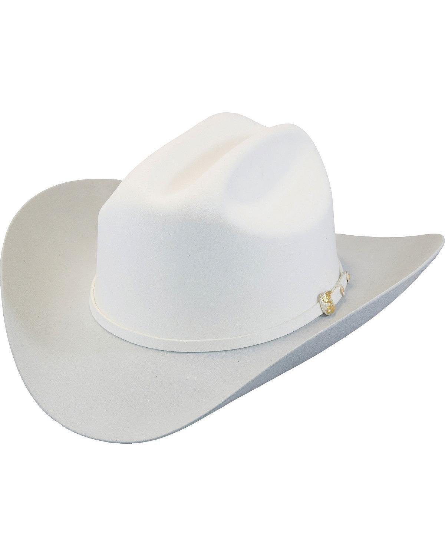 Larry Mahan Men's White The Dos Banderas 6X Cowboy Hat White 6 7/8