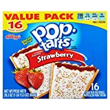 Kellogg's Pop-Tarts Frosted Strawberry Toaster Pastries, 16 ct 29.3 oz