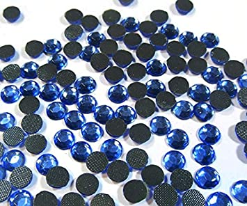 Perlin Hotfix Strasssteine 2880stk Sapphire Blau 5mm