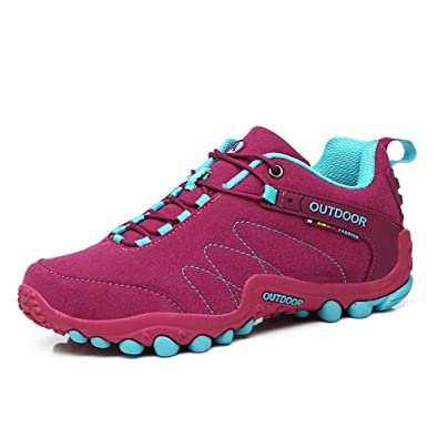 Always Pretty Women Men s Walking Hiking Trail Shoes Casual Running Shoes  Sneakers Rose US 5 c8dec08c8c
