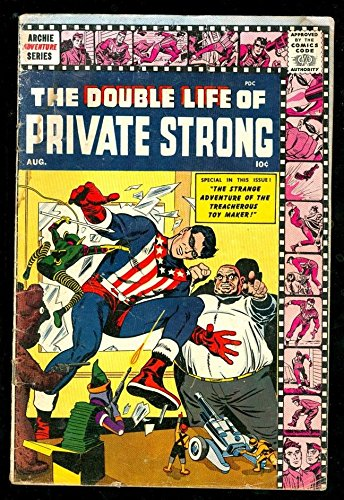 SIMON KIRBY DOUBLE LIFE OF PRIVATE STRONG 2 4.5 VG 1959 ARCHIE MLJ SHIELD