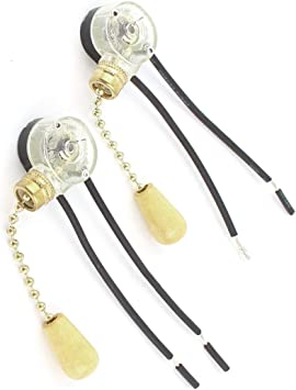 Aexit 2 unids AC 6A 125V 2 Cableado Techo de Luz para Ventilador de Techo Interruptor (model: G4709OIV-8930HL) de Tono Dorado: Amazon.es: Bricolaje y herramientas