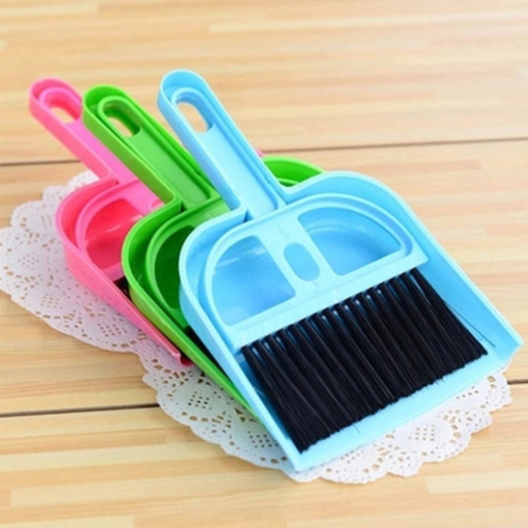 Little rock Mini Plastic Dustpan Brush and Brush Desk Cleaning Sweeper Dust Pan Set by Little rock (Image #6)