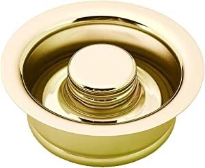 Westbrass D2089-01 3-Bolt mount Waste Disposal Flange & Stopper, Polished Brass
