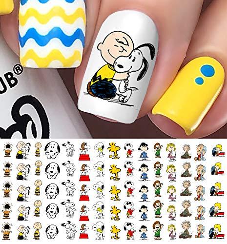 Peanuts Charlie Brown, Snoopy & Friends Waterslide Nail Art Decals - Salon - Charlie Pigpen Brown