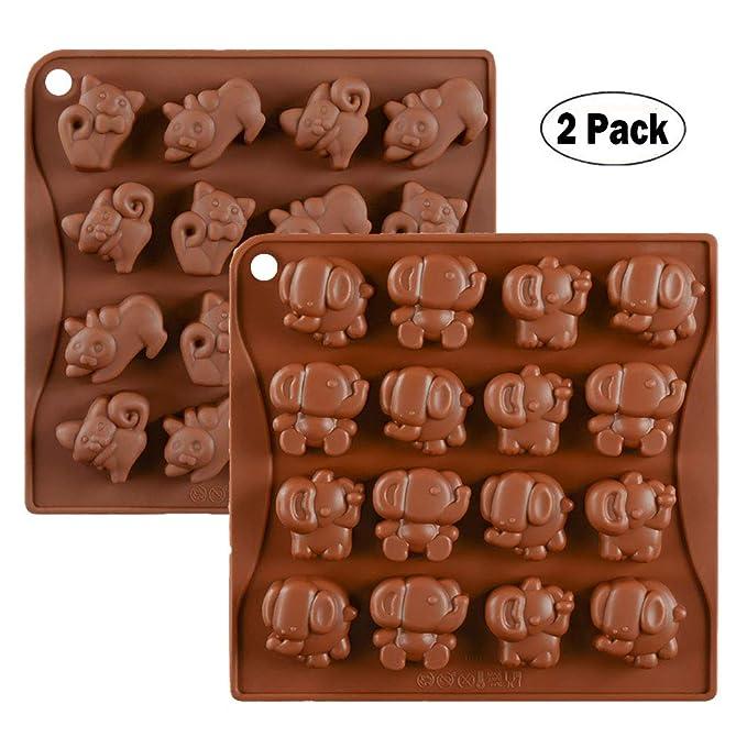 KBstore 2 Pack Moldes de Bombones de Silicona - Forma de Elefante ...