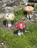 Glass Mushroom Solar Lights, Set of 3