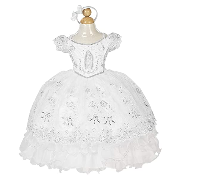 Amazon.com: Girls Baptism, Christening Dress/Vestido de ...