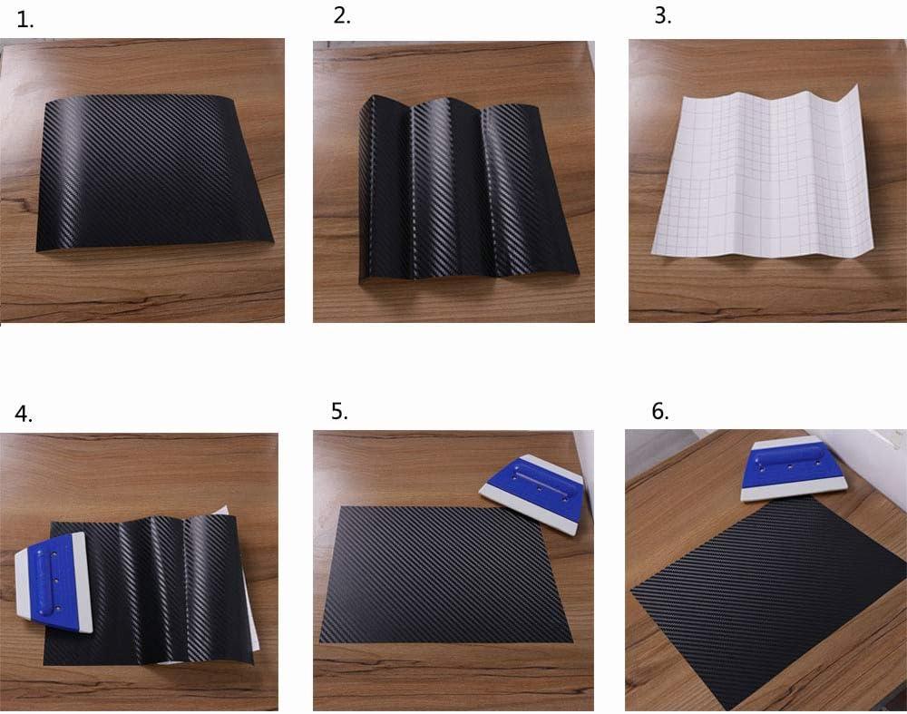 HOHOFILM 60x12 3D Effect Black Carbon Fiber Vinyl Automotive Car Wrap Film DIY Interior Stickers
