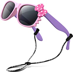 683d061594c RIVBOS Rubber Kids Polarized Sunglasses With Strap Glasses Shades for Boys  Girls Baby and Children Age
