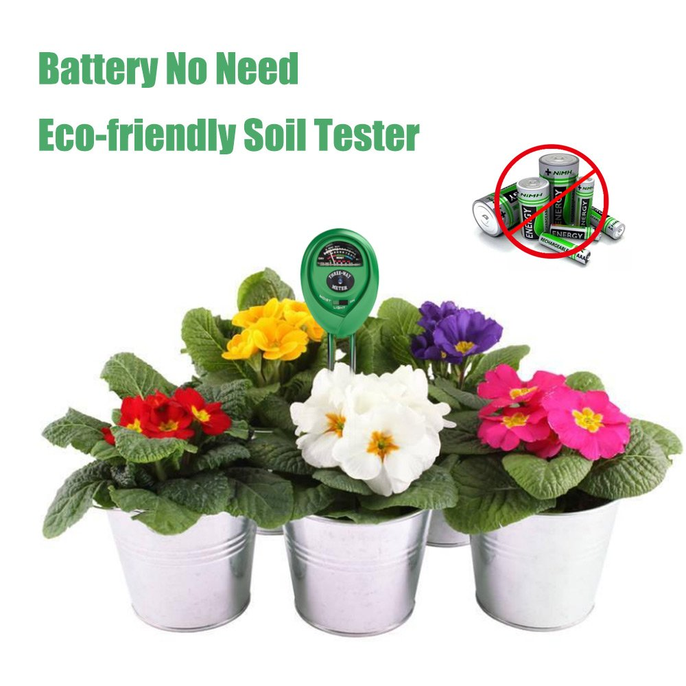 Soil Tester 3-in-1 Moisture Light PH Multifunctional Soil Acidity Test Kit, Best Probe Tester for Home And Garden, Lawn, Farm, Plants, Herbs & Gardening Tools, Indoor/Outdoors Plant Care by  (Image #7)