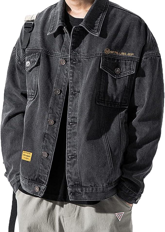 [CEEN] デニムジャケット フライトジャケット メンズ ジージャン 大きいサイズ 無地 春秋 カジュアル通勤 通学
