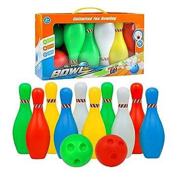 Juego De Bolos Skittles Juego De Bolos Para Jugar Al Aire Libre De