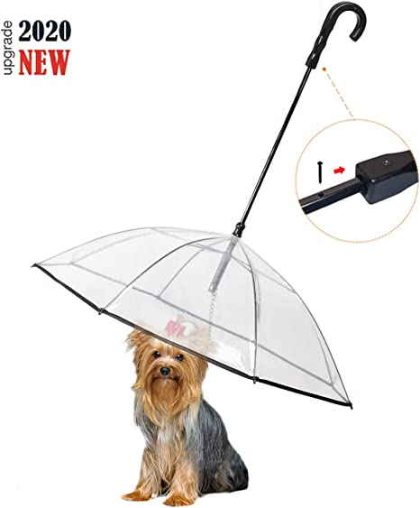 Enjoying Pet Umbrella Dog Umbrella with Leash Snow-Proof Rain Proof Umbrella for Small Dogs