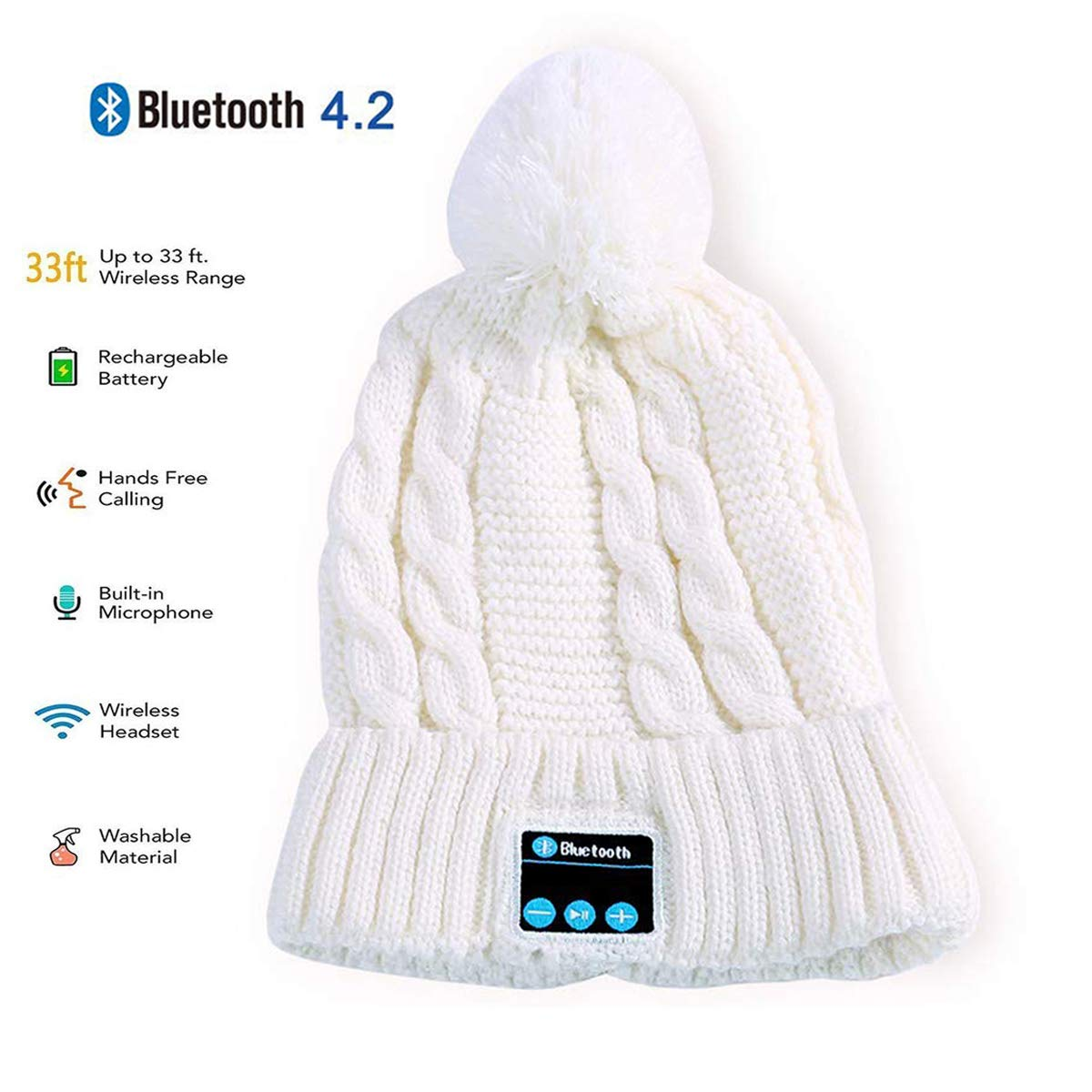 80b562cc1f16d Amazon.com  Bluetooth Beanie