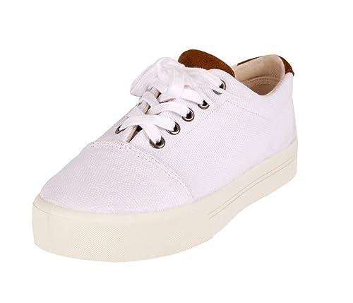 Pompeii Eloé, Zapatilla Baja para Mujer, White (2), 36 EU: Amazon.es: Zapatos y complementos