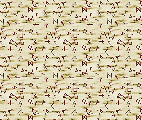 Vikings Fabric Runes by Arts And Herbs Printed on Basic Cotton Ultra Fabric by the Yard by Spoonflower