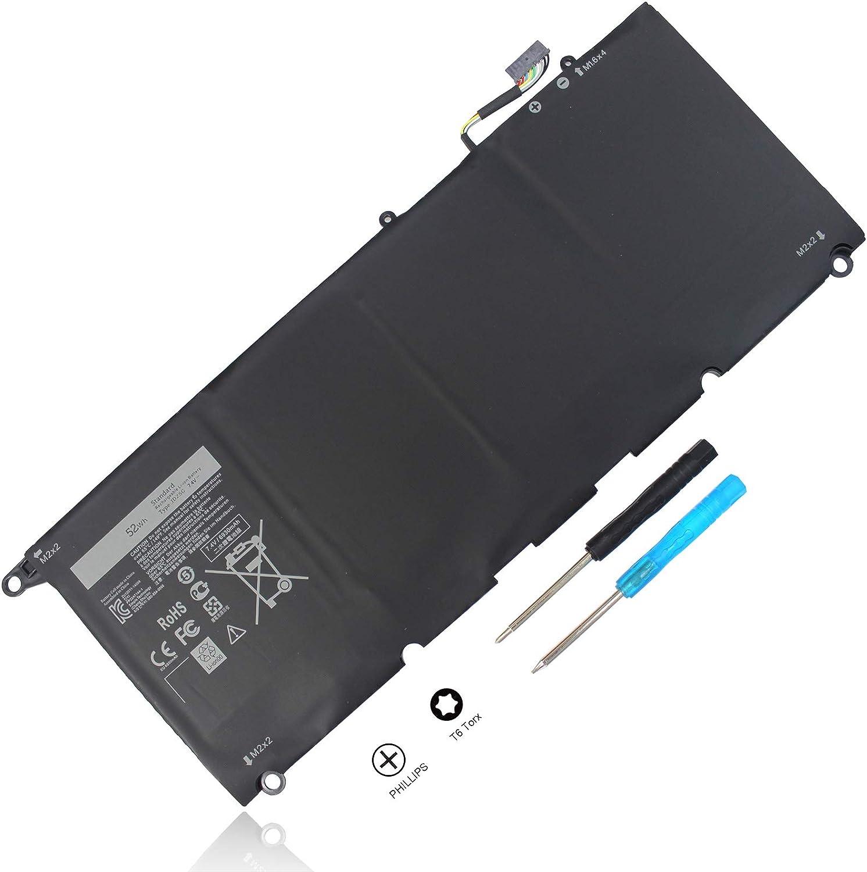 52Wh JD25G 9343 9350 Battery Compatible with Dell XPS 13 13D XPS13D 13-9350 13-9343 13D-9343-1808T 3708 90V7W JHXPY 5K9CP DIN02 090V7W 0DRRP RWT1R 0RWT1R 0N7T6 XPS13-9350-D1608 D1508G D1708