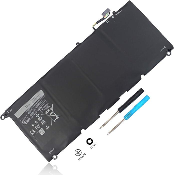 JD25G XPS13 Laptop Battery Compatible with Dell XPS 13 9343 9350 P54G 13D-9343 JHXPY 0DRRP 0N7T6 5K9CP 90V7W DIN02 RWTIR 0RWT1R D1508G D1708 13D-9343-1808T 3708 XPS13-9350-D1608 P54G001 P54G002