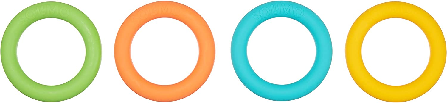 Amazon Brand - Solimo Teething Loops, Bpa Free (Pack von 4)
