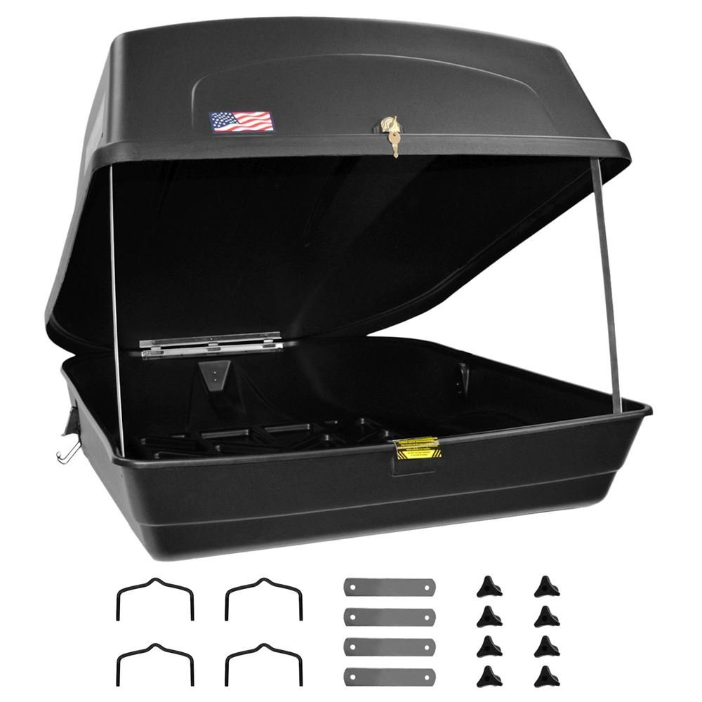 Apex RTB-18 Roof Box Cargo Storage Carrier and Cross Bar Mounting Bracket 1 Pack
