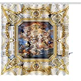 Zoyon Shower Curtain Madrid Spain August The Fresco Corrado giaquinto Spain Pays Homage to Religion to Graphic Print Polyester Fabric Bathroom Decor Sets Hooks 72'' W x 72'' L