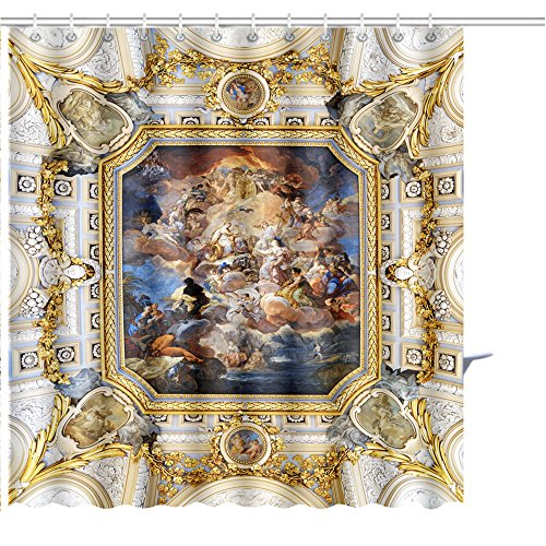 Zoyon Shower Curtain Madrid Spain August The Fresco Corrado giaquinto Spain Pays Homage to Religion to Graphic Print Polyester Fabric Bathroom Decor Sets Hooks 72'' W x 72'' L by Zoyon