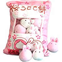 Cute Plush Pillow Throw Pillow Removable Stuffed Animal Toys Creative Gifts for Girls (Bunny)