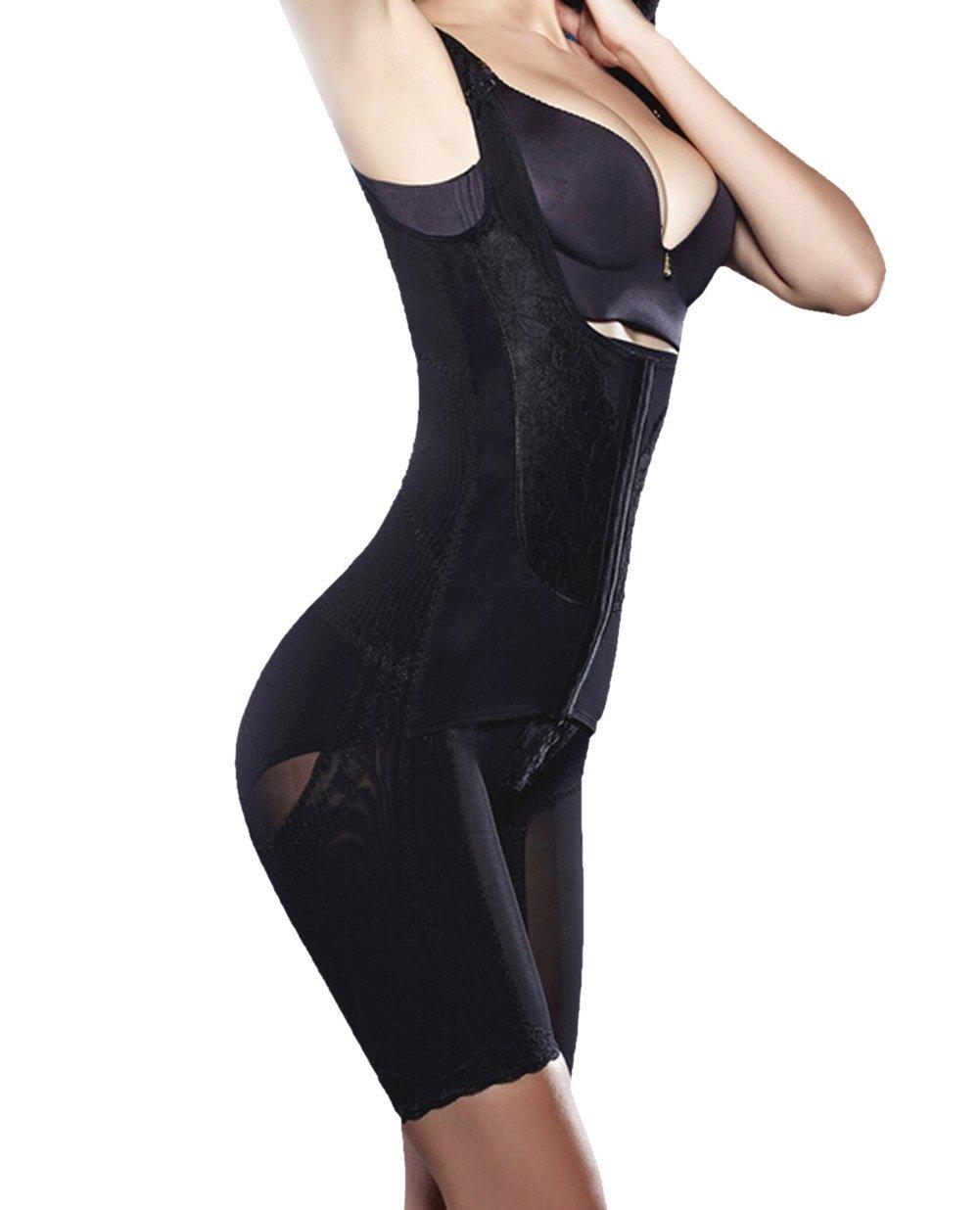 TININNA Body Faja Modeladora Reductora Full Body Shaper Sin Costuras para Recuperación Post-Parto para Mujeres.-Negro XXXL: Amazon.es: Hogar