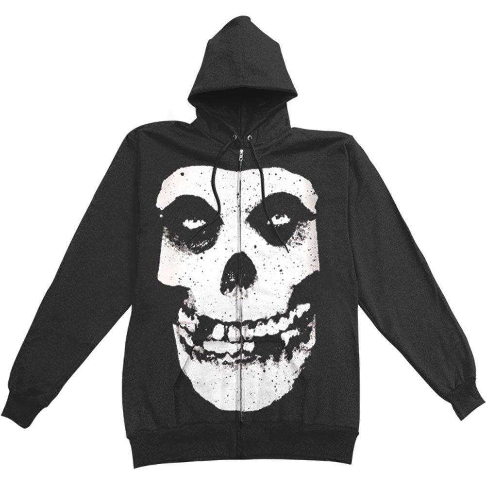 Zip Hoodie: Misfits - Fiend Skull Kapuzenjacke mit Reißverschluss - Schwarz IMPACT