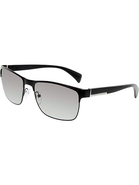 Amazon.com: anteojos de sol Prada PR 51OS Matte Black/Gray ...