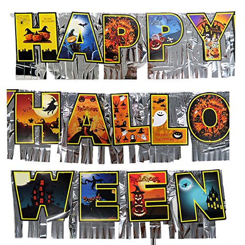 Hanging Banner Paper Garland - Halloween Party Home