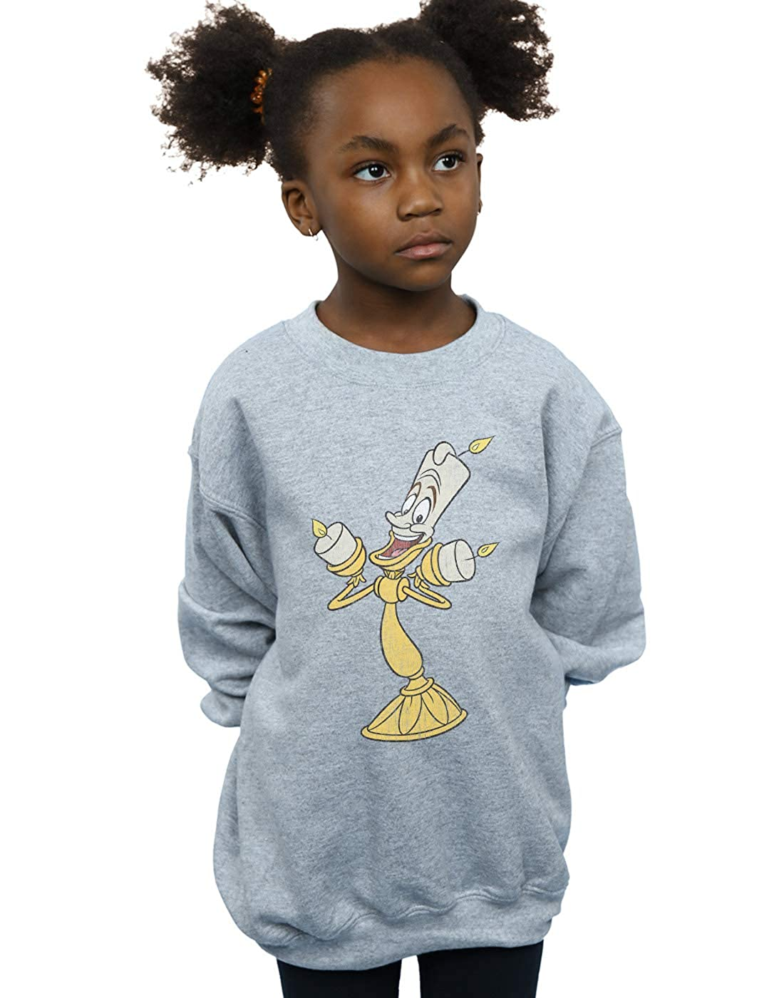 Disney Girls Beauty and The Beast Lumiere Distressed Sweatshirt