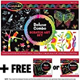 Melissa & Doug Deluxe Combo Scratch Art Set + FREE Scratch Art Mini-Pad Bundle [59817]