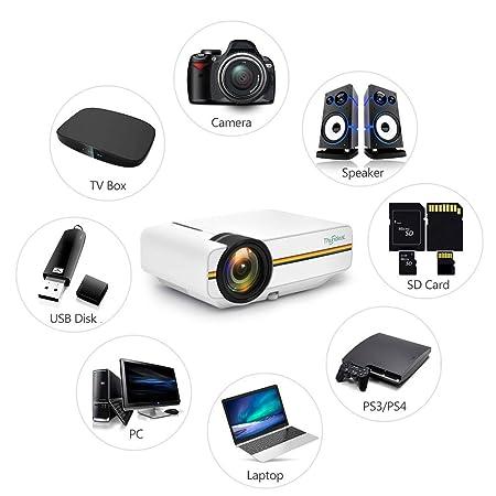Juonjee Proyectores de vídeo de Cine en casa DVD Proyector Digital ...