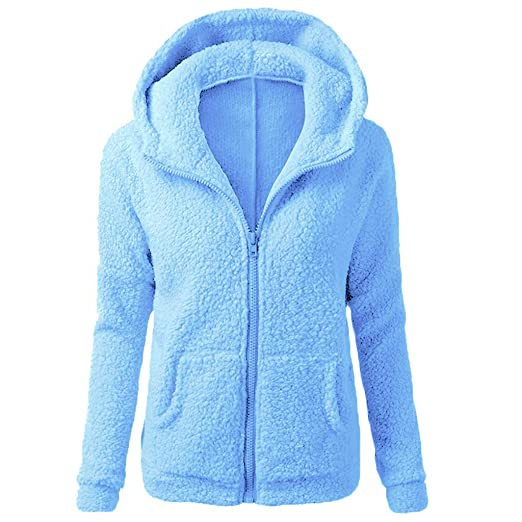 Amazon.com: Hooded Pgojuni Fashion Women Sweater Coat Winter Outwear Warm Wool Zipper Coat Cotton Coat (Pink, L): Garden & Outdoor