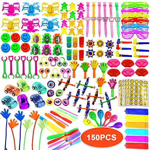 ToyerBee Party Favors for Kids, 150PCS Carnival Prizes for Boys&Girls, Birthday Party Favors, Treasure Box Prizes, Prizes Box Toy Assortment for Classroom (Treasure Box Child)
