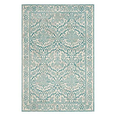 Safavieh Evoke Collection Ivory and Light Blue Area Rug
