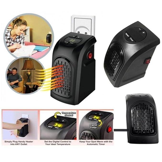 Mini Calentador Rápido - Calentador de bajo consumo portátil y ajustable, Calefactores eléctricos para el hogar (negro): Amazon.es: Bricolaje y herramientas