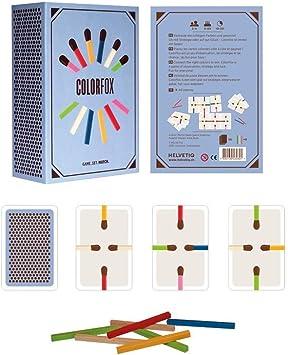 Helvetiq Colorfox Juego de bazas - Juegos de Cartas (6 año(s), Juego de bazas, Niños y Adultos, Niño/niña, 99 año(s), 10 min): Amazon.es: Juguetes y juegos