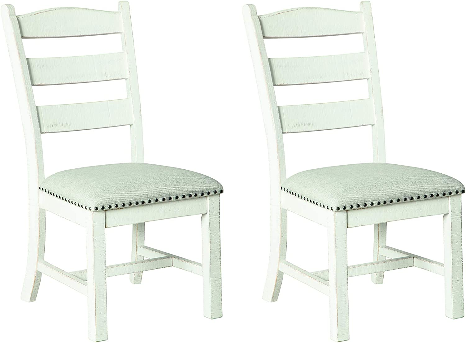 Signature Design by Ashley Valebeck Dining Room Chair, Beige/White