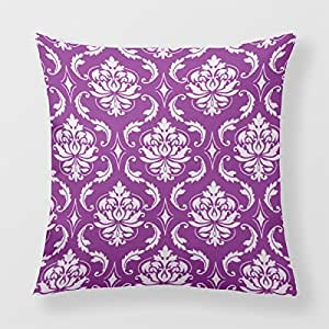 Lightinglife Cushion Pillow Damask Cushion Cover For Sofa Pillow Chic Pattern 18 X 18 Pillow