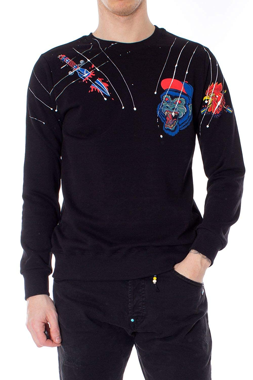Berna Luxury mode Homme 1900851noir Noir Sweatshirt   Printemps été 19