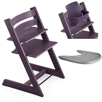 Amazon.com: Stokke Tripp Trapp silla, morado ciruela con ...