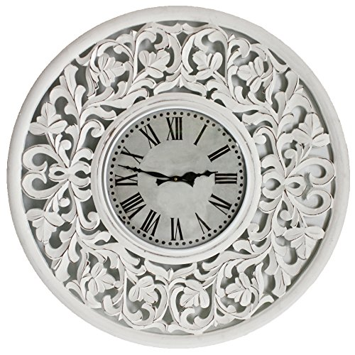 Fetco Home Decor (Fetco Home Decor Clock Vella Clock White)